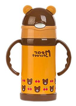 Bear Forest Vacuum Insulated Stainless Steel Sippy Cup with