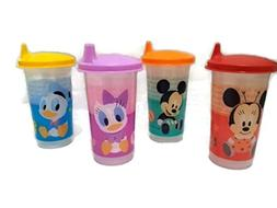 Tupperware 7oz Bell Tumblers Multi-Colors with Flat Clear Si