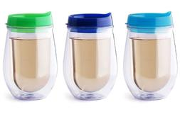 Set of 3 Bev2Go Double Wall Insulated 10 oz Tumbler Stemless