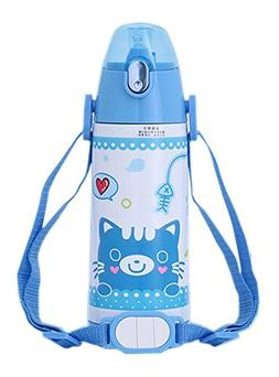 Blue Cat Vacuum Insulated Stainless Steel Training Drinking