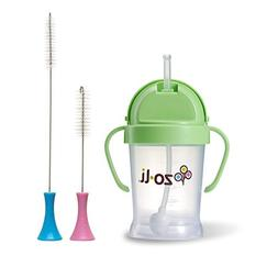 Zoli Bot Straw Sippy Cup 6oz. with Sippy Cup Cleaning Brush