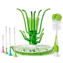 Baby Bottle  Sippy Cup Cleaning Set Drying Rack Tree Shape C