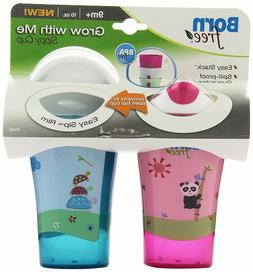 BPA-Free Grow with Me 10 oz. Sippy Cup, 2 Count, Girl