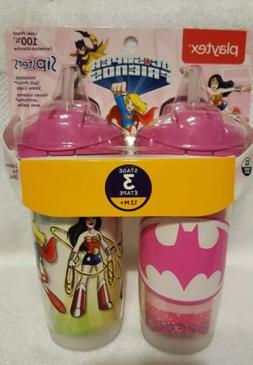 Brand New Playtex Sipsters Stage 3 DC Super Friends Straw Si