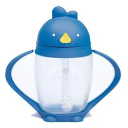 Brave Blue, Stylish Kids Straw Sippy Cup with Straw Cleaning