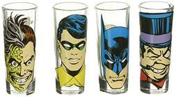 Zak Designs BTMF-S430 Batman Comics Mini Glass 4 Piece Windo