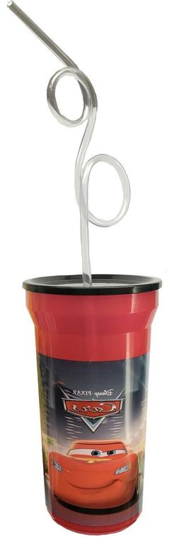 Disney Cars Lidded Drinking Cup with Curly Straw