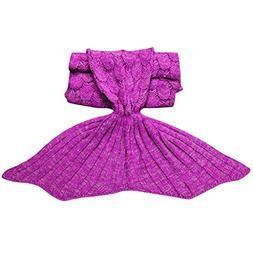 Willsa Children Girl Kids Warm Tail Swaddle Soft Knitting Bl
