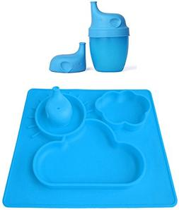 Elefuntot CHILDREN PLACEMAT & SIPPY CUP LID for Infants Todd