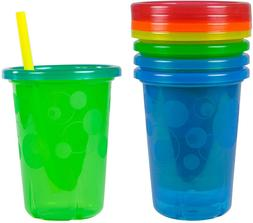 Children Take and Toss Spill-Proof Straw Cups 10oz, Pack of
