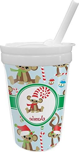 Christmas Monkeys Sippy Cup with Straw