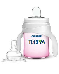 Philips Avent My Classic Trainer Cup, Pink, 4 Ounce, Stage 1