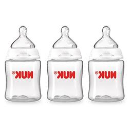 NUK Perfect Fit Baby Bottle, Clear, 50z 3pk