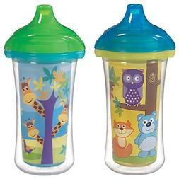 Munchkin Click Lock 2 Count Insulated Sippy Cup, 9 ounce Col