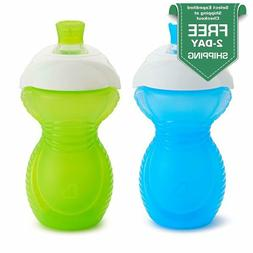 Click Lock Bite Proof Sippy Cup 9 Ounce 2 Count Blue.Green/B