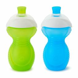 Munchkin Click Lock Bite Proof Sippy Cup, Blue/Green, 9 Ounc