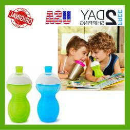 CLICK LOCK Bite Proof Sippy Cup Toddler Blue/Green 9 Ounce 2