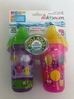 Munchkin Click Lock Decorated Sippy Cup - Pink/Purple