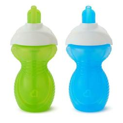 Click Lock Flip Straw Cup, Blue/Green, 9 Ounce, 2 Count
