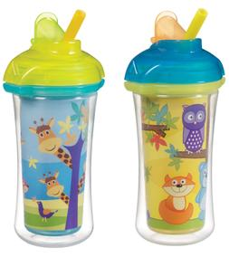 Munchkin Click Lock Insulated Straw Cup, Giraffe/Forest, 9 O