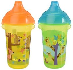 Munchkin Click Lock Sippy Cup, Giraffe/Forest, 9 Ounce, 2 Co