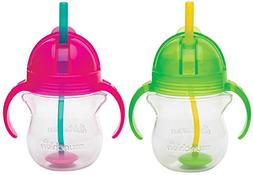 Munchkin Click Lock 7 Ounce Weighted Flexi-Straw Cup, 2 Pack