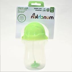 Munchkin Click Lock Weighted Straw Cup 10 oz Spill Proof Gre