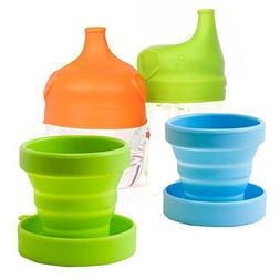 CHRISLZ Collapsible Water Cup Foldable Portable Silicone Dri