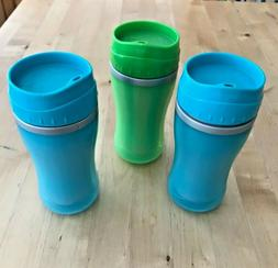 Playtex Coolster Tumbler Sippy Cups Lot of 3 With Valves