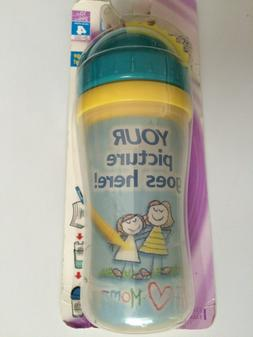 Playtex Create my a cup toddler baby sippy straw picture dra