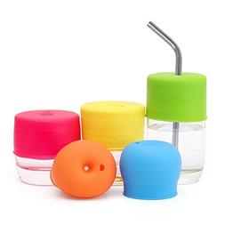 Vanvler Cup Lid Cover, Universal Silicone Spill-Proof Sippy