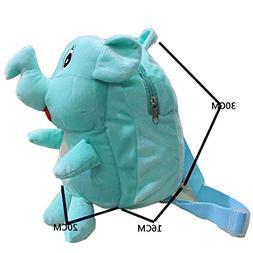 COFFLED Cute Plush 3D Elephant Backpack, Cartoon Toddler Kid