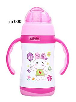 Cute Rabbit Vacuum Insulated Stainless Steel Sippy Cup with