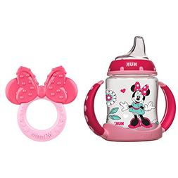NUK Disney Learner Cup, Minnie Mouse, 5-Ounce with Teether