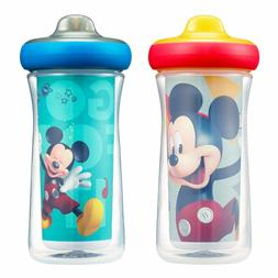 Disney Mickey Mouse Insulated Hard Spout Sippy Cups 9 Oz, 2p