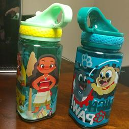Disney Park Lot 2 Sippy Cups with Built in Straw 6 inches Hi