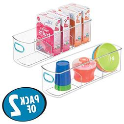 mDesign Divided Storage Organizer Container for Kitchen Cabi