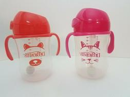 Dr. Brown's Baby's First Straw Cup, Cute Critters Pink/Orang