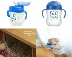 Dr. Brown's Baby's First Straw Cup, Cute Critters Blue, 9 1