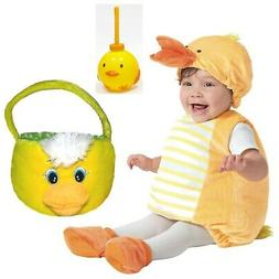 EASTER DUCK 3pc ~ Baby Costume Photo Outfit 12-18m + Plush B
