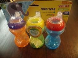Nuby Easy Grip Soft Spout Sippy Cup - 3 pack **BRAND NEW**