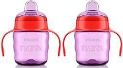 Philips AVENT 2 Pack My Easy Sippy Cup, 9 Ounce, Purple