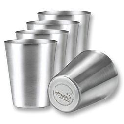 Premium Rimless Heavy Duty 9 oz. Stainless Steel Cups for Ki