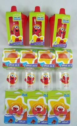 elmo lot 8oz sippy cup 5 oz