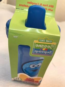 Elmo Sesame Street Sippy Cup Blue 8oz Spill Proof BPA-Free P