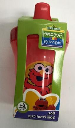 Elmo Sesame Street Sippy Cup Red 8oz Spill Proof BPA-Free Pl