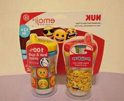 NUK Emoji Insulated Hard Spout Sippy Cup 2 Pack