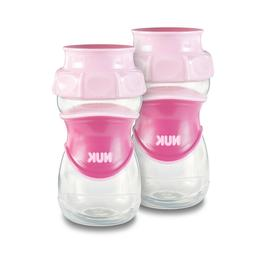 NUK Everlast 360 Sippy Cup, Pink, 10oz 2pk