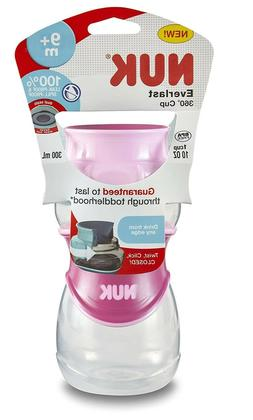 NUK Everlast 360 Sippy Cup, Pink With Twist And Click 10 oz