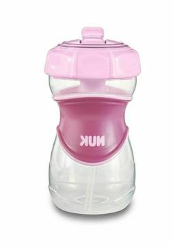 NUK Everlast Straw Sippy Cup, Pink, 10oz 1 pk